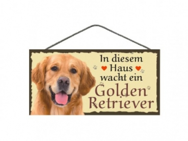 Hundeschild Golden Retriever