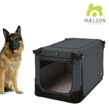 MAELSON faltbare Hundebox Soft Kennel 105 anthrazit