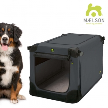 MAELSON faltbare Hundebox Soft Kennel 120 anthrazit