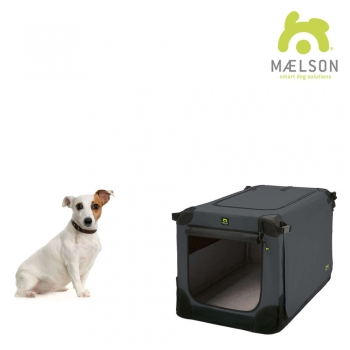 MAELSON faltbare Hundebox Soft Kennel 62 anthrazit